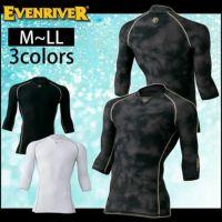 EVENRIVER|イーブンリバー|夏対策商品|アイスコンプレッションVネック|七分袖| GT-17
