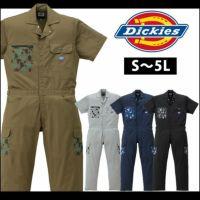 Dickies|ディッキーズ|春夏作業服|半袖ストライプツヅキ服 21-1612
