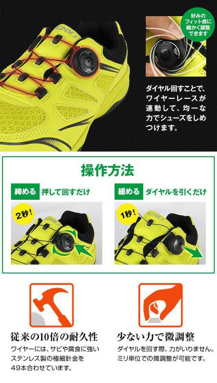 IGNIO|イグニオ|安全靴|セーフティシューズ IGS1018TGF